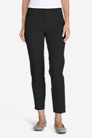 Women's StayShape® Twill Ankle Pants in Black