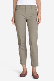 Women's StayShape® Twill Ankle Pants in Beige