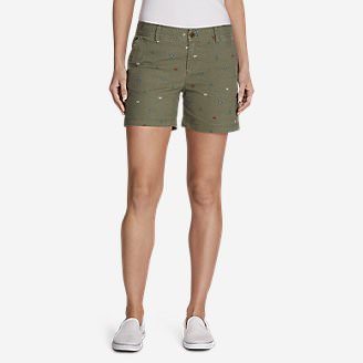 Women's Adventurer Stretch Ripstop Shorts - Print in Green