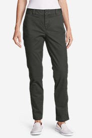 Women's Legend Wash Stretch Slim Straight Pants - Slightly Curvy in Gray