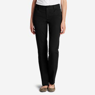 Curvy StayShape® Stretch Twill Pants in Black