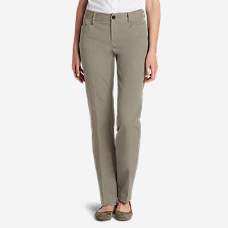 Curvy StayShape Stretch Twill Pants in Beige