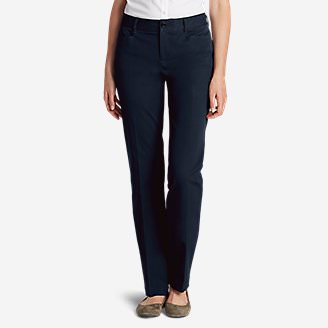 Curvy StayShape® Stretch Twill Pants in Blue