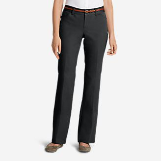 Women's StayShape® Twill Trousers - Curvy in Gray