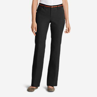 Women's StayShape® Twill Trousers - Curvy in Black