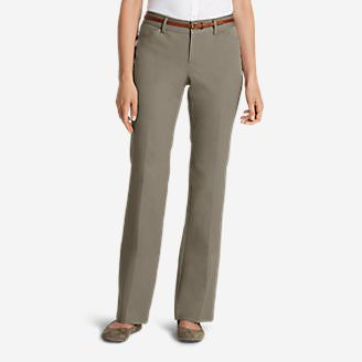 Women's StayShape® Twill Trousers - Curvy in Beige