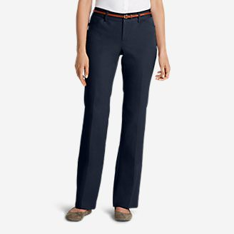 Women's StayShape Twill Trousers - Curvy in Blue