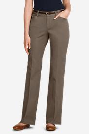 Women's StayShape® Twill Trousers - Curvy in Beige