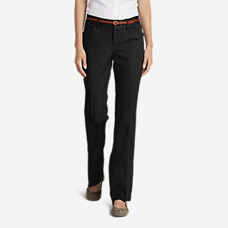 Women's StayShape® Twill Trousers - Slightly Curvy in Black