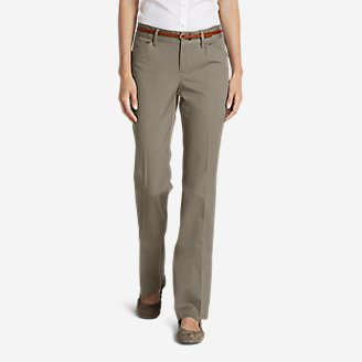 Women's StayShape® Twill Trousers - Slightly Curvy in Beige