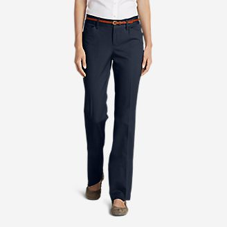 Women's StayShape® Twill Trousers - Slightly Curvy in Blue