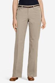 Women's StayShape® Twill Trousers - Slightly Curvy in White