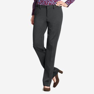 Women's Slightly Curvy Washable Stretch Trousers in Gray