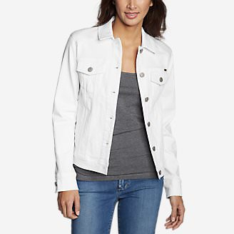 Women's Elysian Denim Jacket - Color in White