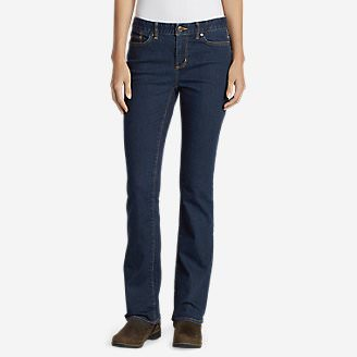 Women's StayShape Boot Cut Jeans - Slightly Curvy in Blue