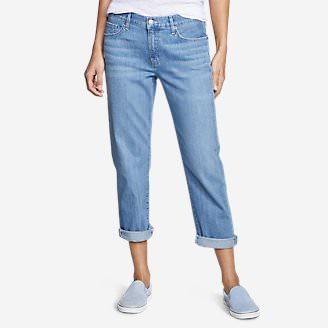 Women's Boyfriend Cropped Jeans in Blue