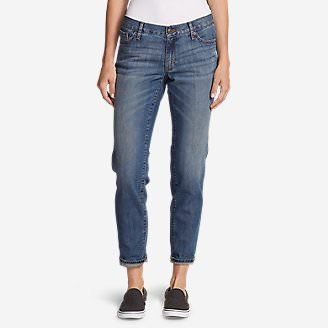 Women's Boyfriend Jeans - Slim Leg in Blue