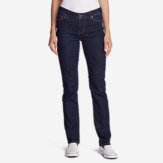 Women's StayShape Straight Leg Jeans - Slightly Curvy in Blue
