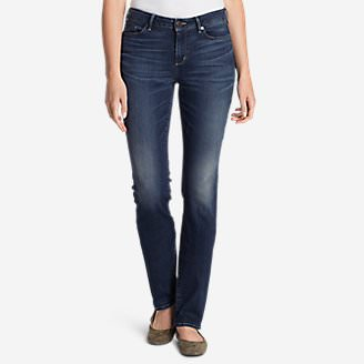 Women's StayShape Straight Leg Jeans - Curvy in Blue