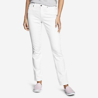 Women's StayShape Straight Leg Jeans - Slightly Curvy in White