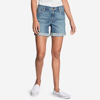 Women's Boyfriend Denim Shorts in Blue