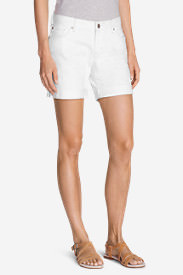 Women's Boyfriend Denim Shorts - White in White