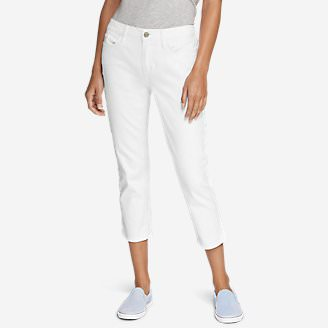 Women's Curvy Crop Jeans - White in White