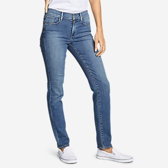 Women's Elysian Slim Straight Jeans - Slightly Curvy in Blue