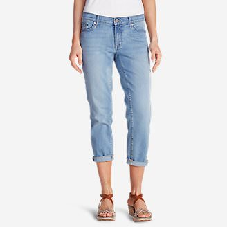 Women's Elysian Boyfriend Slim Crop Jeans in Blue