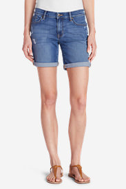 Women's Elysian Boyfriend Shorts - Destroyed in Beige