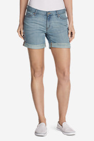Women's Boyfriend Shorts - Embroidered in Blue