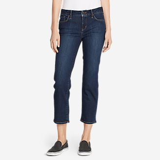 Women's Elysian Slim Straight Crop Jeans in Blue