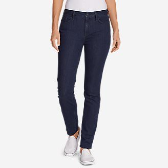 Women's Elysian Slim Straight High Rise Jeans in Blue