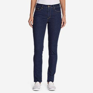 Women's StayShape High-Rise Slim Straight Jeans in Blue
