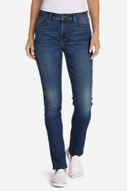 Women's StayShape® High-Rise Slim Straight Jeans in Blue