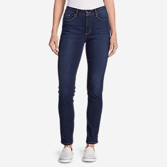 Women's StayShape High-Rise Slim Straight Jeans in Purple
