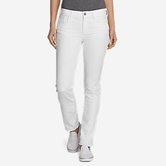 Women's Elysian Slim Straight Jeans - Color - Slightly Curvy in White