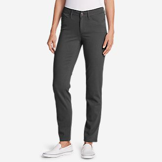 Women's Elysian Slim Straight Jeans - Color - Slightly Curvy in Gray