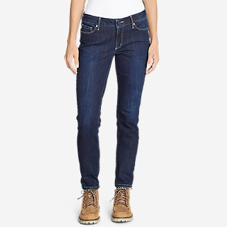 Women's Brushed Back StayShape Slim Straight Leg Jeans - Slightly Curvy in Blue