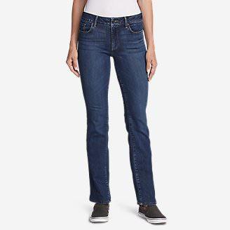 Women's Elysian Baby Boot Jeans - Slightly Curvy in Blue