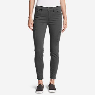 Women's Elysian Skinny Cargo Pants - Color, Slightly Curvy in Gray