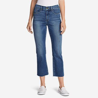 Women's Elysian Kick Flare Jeans - Slightly Curvy High-Rise in Blue