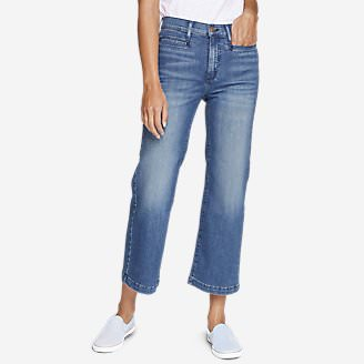 Women's Elysian Wide-Leg High-Rise Jeans in Blue