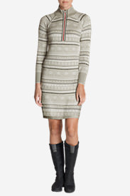 Women's Engage Sweater Dress in Gray