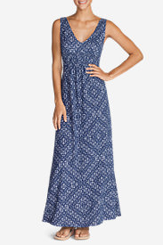 Women's Laurel Canyon Maxi Dress in Blue