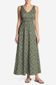 Women's Laurel Canyon Maxi Dress in Green
