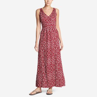 Women's Laurel Canyon Maxi Dress in Red