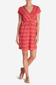 Women's Blue Park Dress in Red
