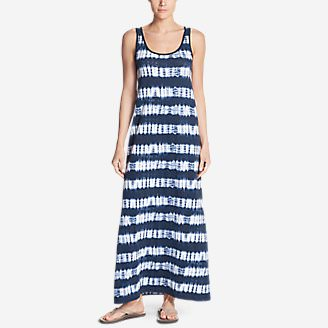Women's Midtown Maxi Dress - Stripe in Blue