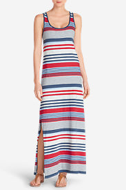 Women's Midtown Maxi Dress - Stripe in Gray